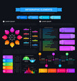 infographic design elements graphs and charts vector image vector image