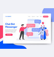 landing page template chat bot messenger vector image vector image