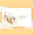 landing page template with group of people or vector image vector image