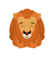 lion sleeping emoji face avatar wild animal vector image