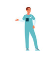 medical male doctor standing and gesticulating vector image vector image