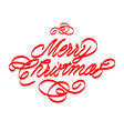 Merry Christmas 6 vector image vector image