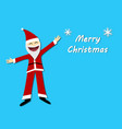 merry christmas card with santa claus in flat vector image