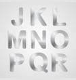 Metal Alphabet Set vector image vector image