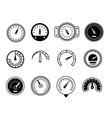 meter icons symbols speedometers manometers vector image vector image