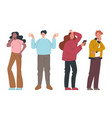 modern style simple flat people man woman vector image vector image