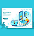 online tutorial school learning process vector image