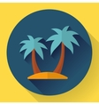 palm Island Travel Icon Flat designed style vector image vector image