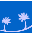 Palm tree on blue background vector image