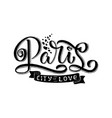 paris hand drawn calligraphy brush vector image