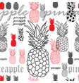 pineapple brekfest-fruit delight seamless repeat vector image