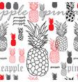 pineapple brekfest-fruit delight seamless repeat vector image