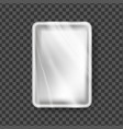 plastic tray transparent food container vector image vector image