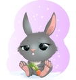 rabbit on carrot vector image vector image