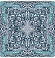 seamless blue pattern spirals swirls vector image