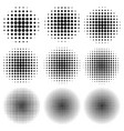 set circle effect halftone dot pattern vector image vector image