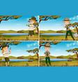 set of park rangers vector image