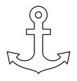 ship anchor for marine nautical design icon black vector image vector image