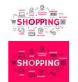 shopping and retail outline icons vector image