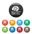smart brain icons set color vector image