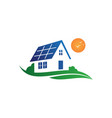 solar house graphic vector image