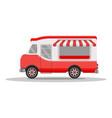 street food truck concept street food vehicles vector image