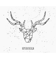 stylized deer head abstract geometric design vector image vector image