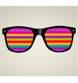 sunglasses abstract background vector image vector image