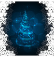 The magic christmas tree vector image