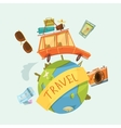 Travel Around The World Concept vector image