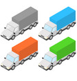 trucks isometric vector image