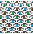 various color eyes looking at you seamless pattern vector image