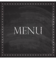 vintage with restaurant menu design on blackboard vector image vector image