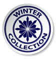 winter collection sticker vector image vector image
