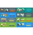 Work Team People Job Concept Flat Design vector image vector image