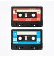 Colorful Cassette Tape Old Set vector image