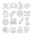 auto service line icons vector image