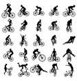 Bike silhouette set vector image