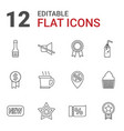 12 label icons vector image vector image