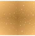 Abstract gold seamless background Golden starry vector image vector image