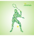 Abstract tennis player kicking the ball vector image vector image