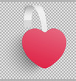 advertising wobbler looking as red heart isolated vector image