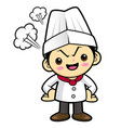angry cook character flare up in anger isolated vector image
