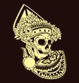 Baris Skull Balinese Dances vector image vector image