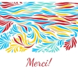 Black and white hand drawn merci background vector image