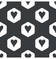 Black hexagon hearts pattern vector image