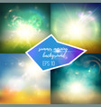 bright green and blue backgrounds set vector image