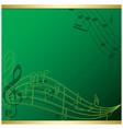 bright green background with music notes - flyer vector image vector image