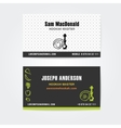 Business card design template of hookah vector image