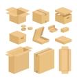 Carton box pack set vector image vector image